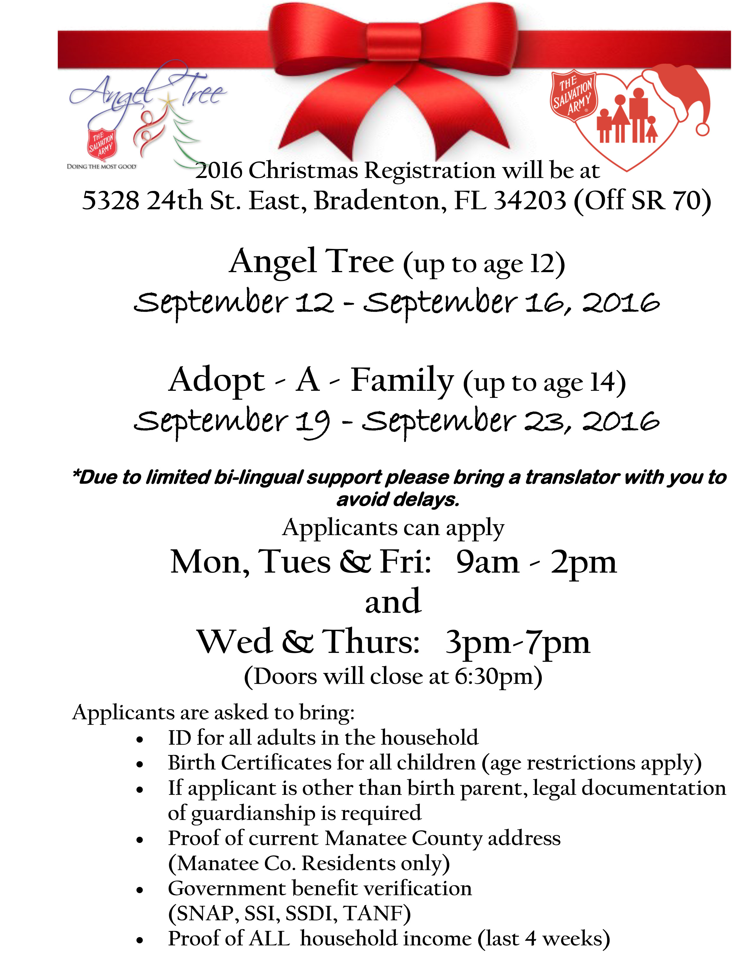 The Salvation Army Manatee County Christmas Assistance - The Salvation ...