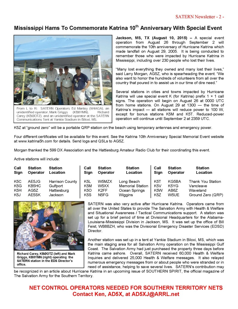 Newsletter - 2015-8-15 Page 2