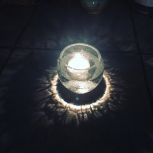 outdoor lighting glass jar